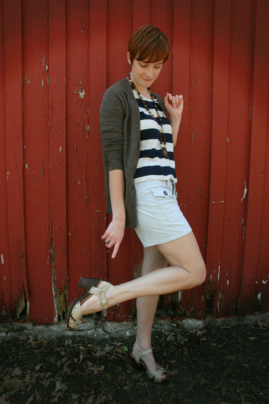 How to Wear Stripes, Shorts, and a Vintage Necklace