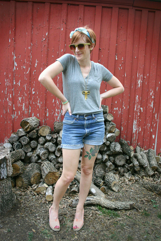 Cut-offs with Wedges and Kerchief