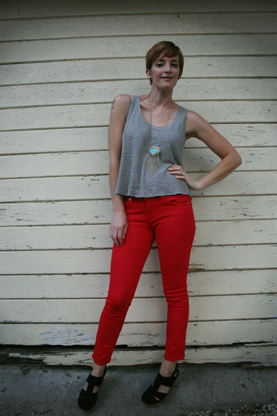 Red Jeans and Turquoise