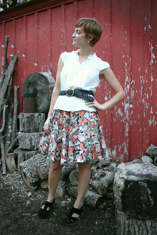 Summer Belted Skirt