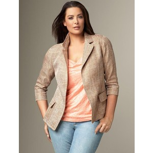 summer tweed blazer