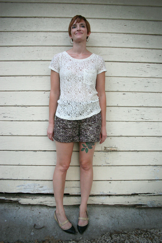 Mixing Lace and Print