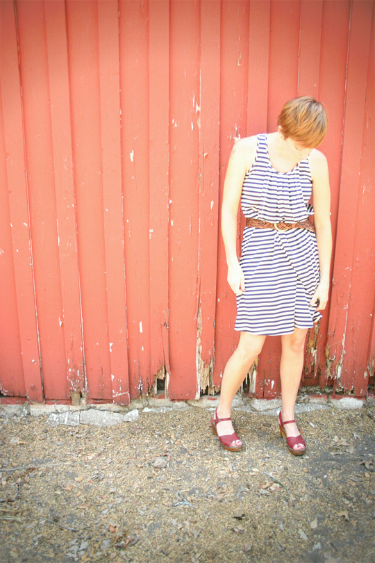 Summer Stripes Belted Dress