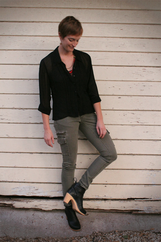 Skinny Cargo Pants Ankle Boots