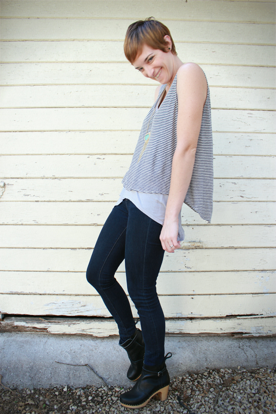 Drape Top High-Waisted Jeans