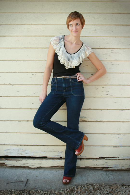 High Waisted Jeans and Lace