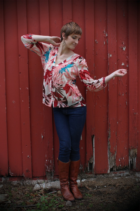 Summer blouse in Fall