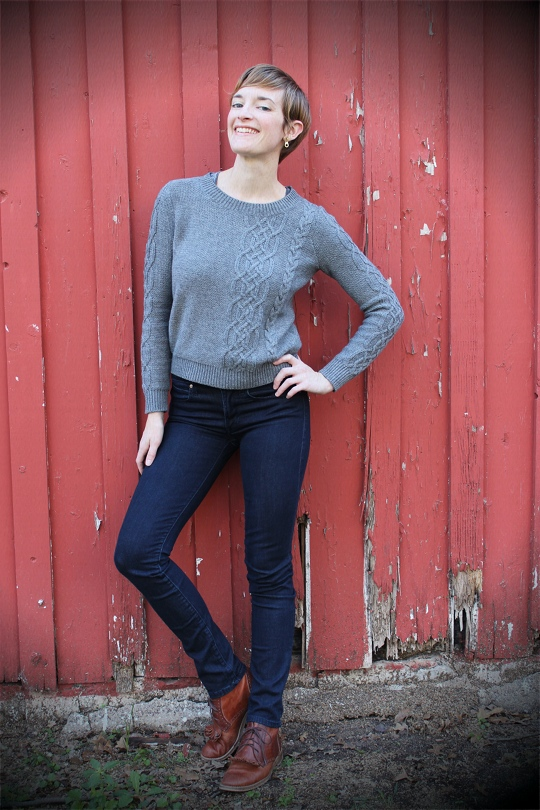 the perfect grey sweater