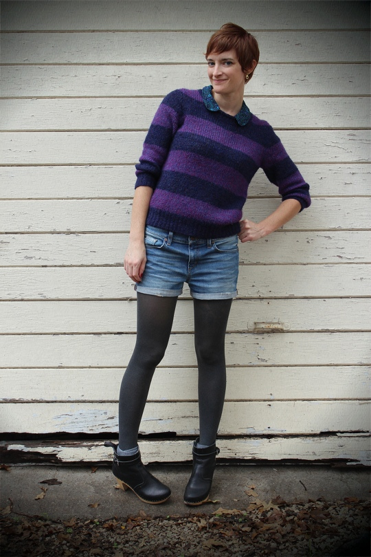 boyish shorts with tights