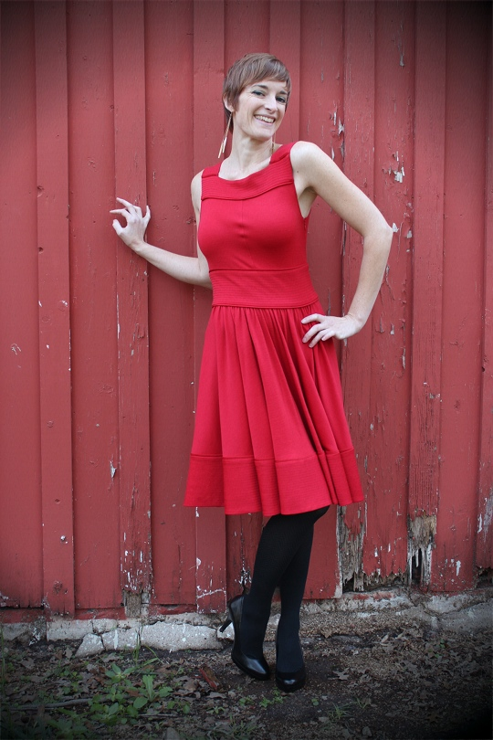 Red Holiday Party Dress