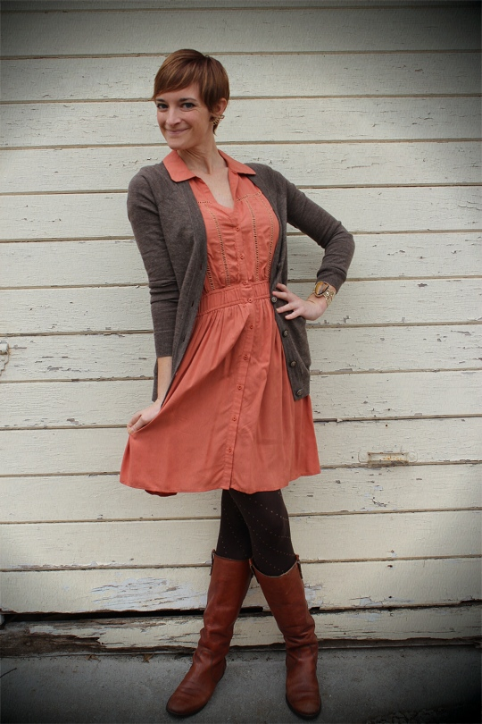 Summer Dress with Winter Layers