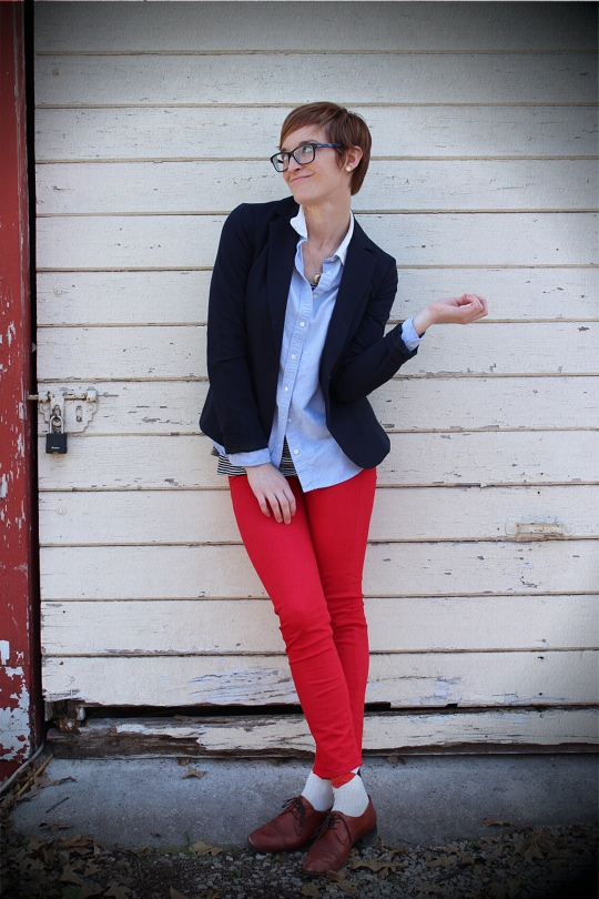 Preppy Outfit Red Jeans