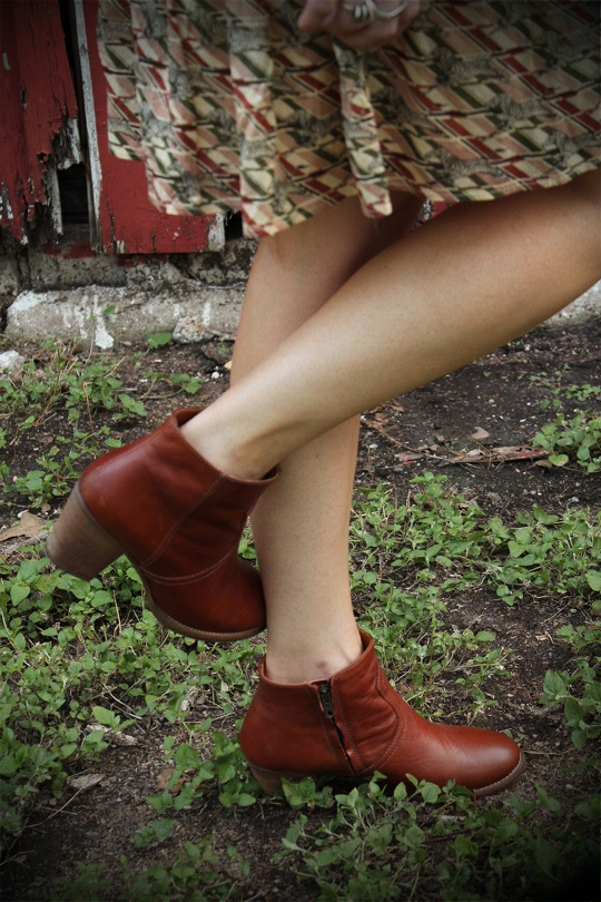 ankle boots with skirt
