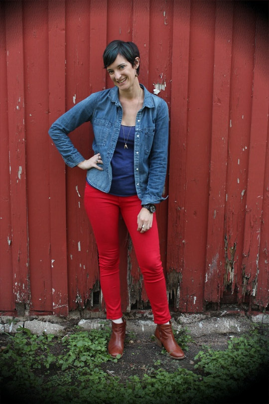 Red Jeans for Fall!