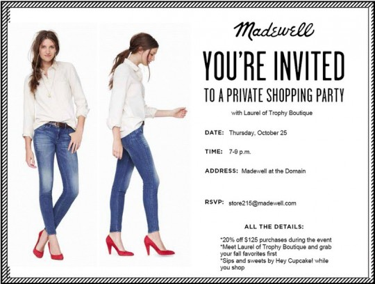 madewell shopping event
