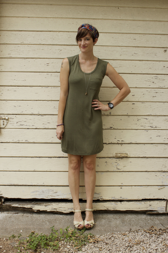 camo green t-shirt dress