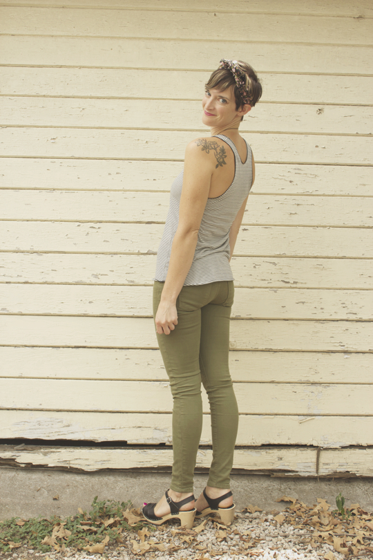 Camo Green Jeans