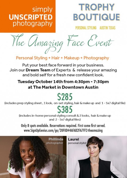 headshots and styling event austin