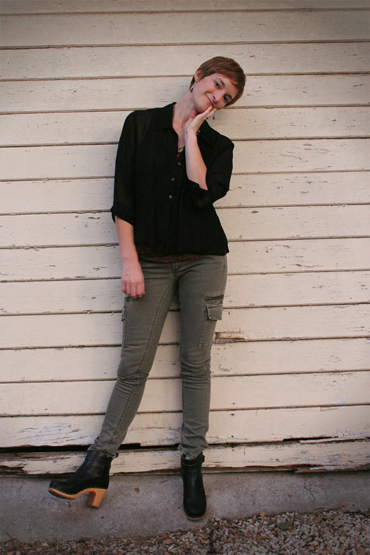 Skinny Cargo Pants And Ankle Boots Trophy Boutique